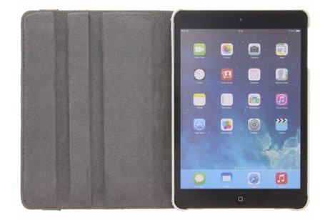 360° draaibare oranje bloemen design hoes voor de iPad Mini / 2 / 3