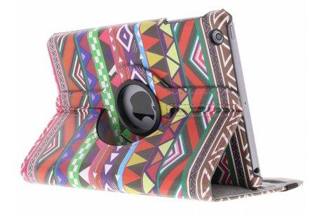 360° draaibare roze aztec design hoes voor de iPad Mini / 2 / 3