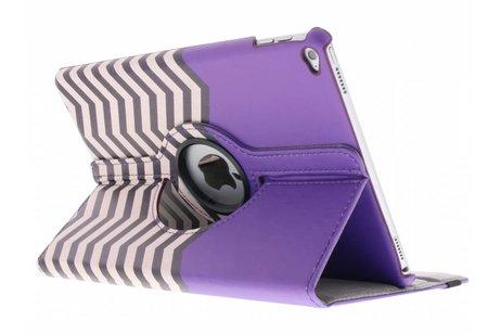 iPad Air 2 hoesje - 360° draaibare paars zigzag