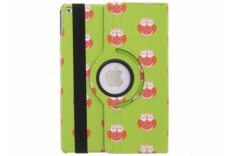iPad Air 2 hoesje - 360° draaibare rode uiltjes
