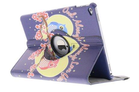 iPad Air 2 hoesje - 360° draaibare owl love
