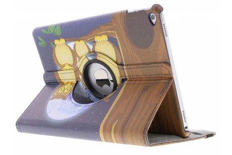 iPad Air 2 hoesje - 360° draaibare moon owl