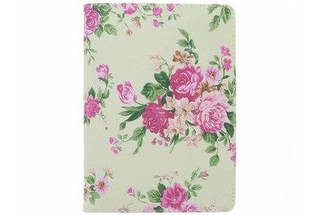 iPad Air 2 hoesje - 360° draaibare roze bloemen