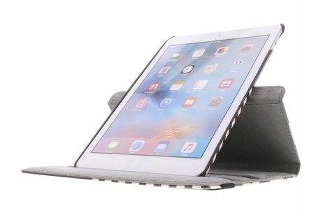iPad Air 2 hoesje - 360° draaibare zwart witte