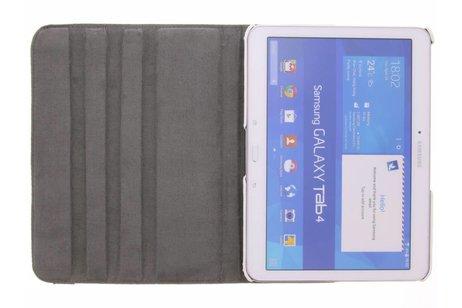 Samsung Galaxy Tab 4 10.1 hoesje - 360° draaibare paarse vlinders