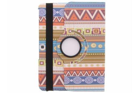 Samsung Galaxy Tab 4 10.1 hoesje - 360° draaibare oranje aztec