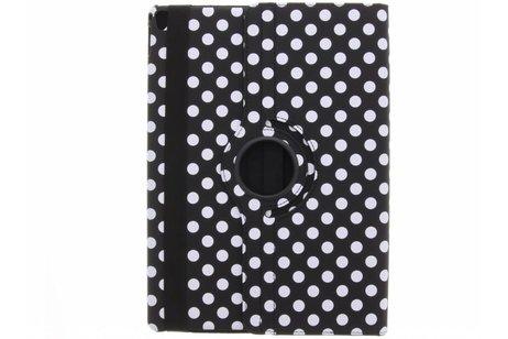 iPad Pro 12.9 (2017) hoesje - Zwarte 360° draaibare polka