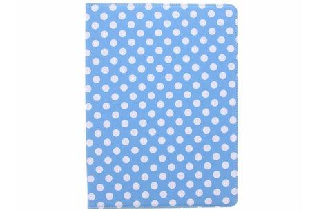 iPad Pro 12.9 (2017) hoesje - Lichtblauwe 360° draaibare polka