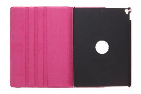 iPad Pro 12.9 (2017) hoesje - Fuchsia 360° draaibare polka