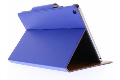 iPad (2017) hoesje - Blauwe Wallet Tablet Case