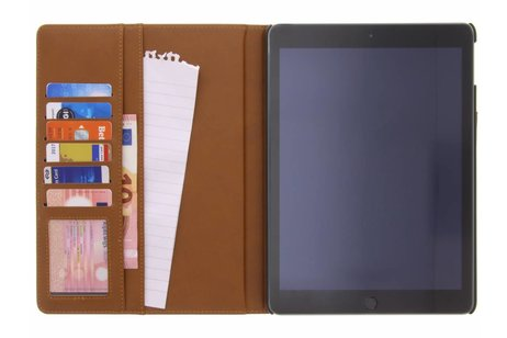 Blauwe Wallet Tablet Case voor de iPad (2018) / (2017)