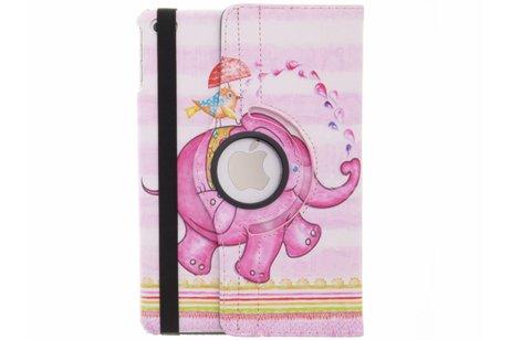 iPad Mini 4 hoesje - 360° draaibare roze olifant