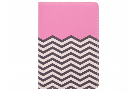 iPad Pro 7.9 hoesje - 360° draaibare roze chevron