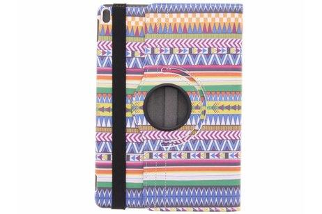iPad Pro 10.5 hoesje - 360° draaibare aztec design