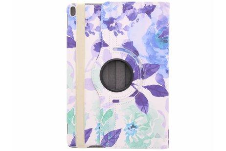 iPad Pro 10.5 hoesje - 360° draaibare bloemen design