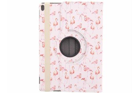 iPad Pro 10.5 hoesje - 360° draaibare flamingo design