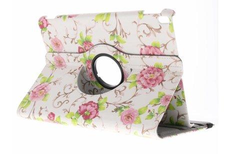 iPad Pro 10.5 hoesje - 360° draaibare rozen design