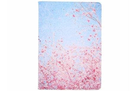 iPad Pro 10.5 hoesje - 360° draaibare roze takken