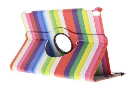 iPad Pro 10.5 hoesje - 360° draaibare regenboog strepen