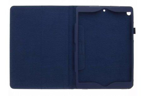 iPad Pro 10.5 hoesje - Blauwe effen tablethoes voor