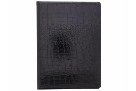 iPad Pro 12.9 (2017) hoesje - Zwarte 360° draaibare krokodil
