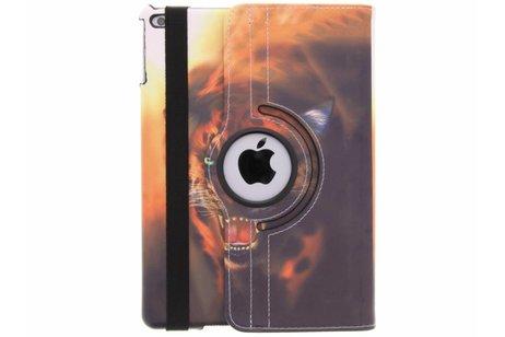 360° draaibare tijger design hoes voor de iPad (2018) / (2017)