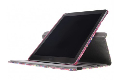 iPad (2017) hoesje - 360° draaibare roze aztec