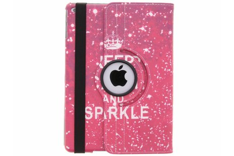 360° draaibare Keep Calm and Sparkle design hoes voor de iPad (2018) / (2017)