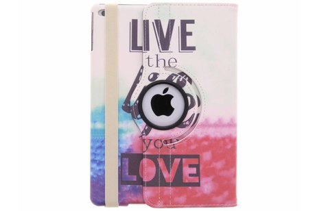 360° draaibare live the life you love design hoes voor de iPad (2018) / (2017)