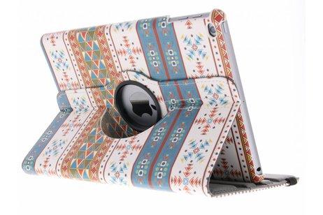 iPad (2017) hoesje - 360° draaibare aztec design