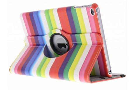 360° draaibare regenboog strepen design hoes voor de iPad (2018) / (2017)
