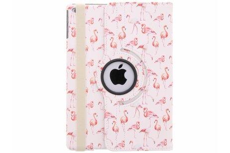 360° draaibare flamingo design hoes voor de iPad (2018) / (2017)