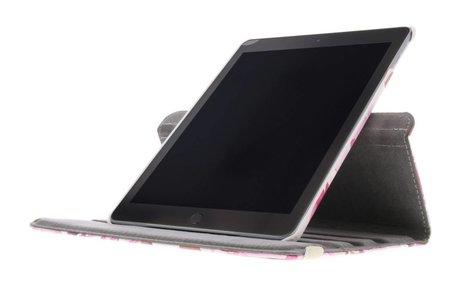 iPad (2017) hoesje - 360° draaibare bloemen design