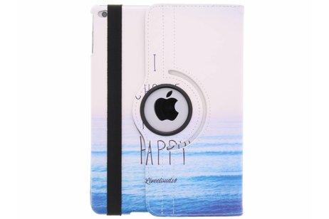 360° draaibare happy design hoes voor de iPad (2018) / (2017)