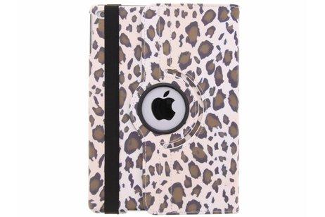 360° draaibare luipaard design hoes voor de iPad (2018) / (2017)