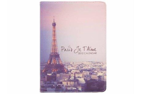 360° draaibare Eiffeltoren design hoes voor de iPad (2018) / (2017)