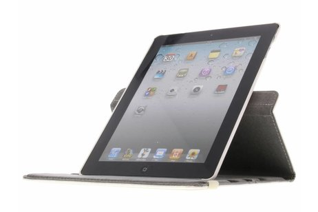 360° draaibare worry design hoes voor de iPad 2 / 3 / 4