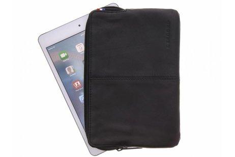 Decoded Zwarte Leather Slim Sleeve voor de iPad Mini / 2 / 3 / 4