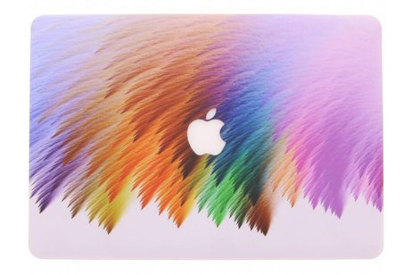 MacBook Pro Retina 15.4 inch (2013-2017) hoesje - Kleurstrepen design hardshell voor