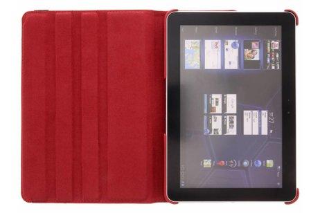 Samsung Galaxy Tab 2 10.1 hoesje - Rode 360° draaibare krokodil