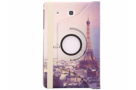 Samsung Galaxy Tab E 9.6 hoesje - 360° draaibare Eiffeltoren design