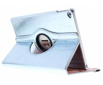 Lichtblauw 360° draaibare glamour tablethoes iPad Air 2