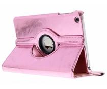 Roze 360° draaibare glamour tablethoes iPad Mini / 2 / 3