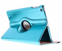Blauw 360° draaibare glamour tablethoes iPad Air
