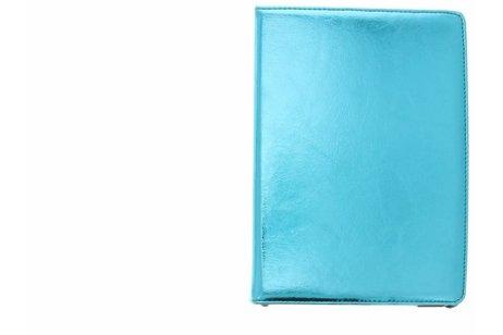 iPad Air hoesje - Blauwe 360° draaibare glamour
