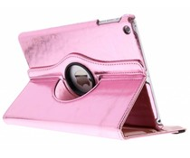Roze 360° draaibare glamour tablethoes iPad Air