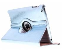 Lichtblauw 360° draaibare glamour tablethoes iPad 2 / 3 / 4