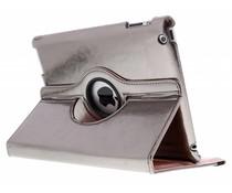 Grijs 360° draaibare glamour tablethoes iPad 2 / 3 / 4