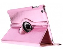 Roze 360° draaibare glamour tablethoes iPad 2 / 3 / 4