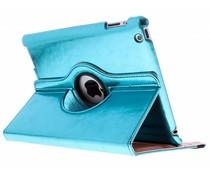 Blauw 360° draaibare glamour tablethoes iPad 2 / 3 / 4